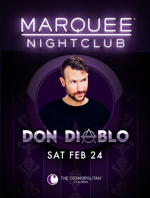 Marquee Nightclub Las Vegas, Featuring DON DIABLO