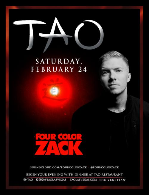 Tao Nightclub Las Vegas, Featuring Four Color Zack