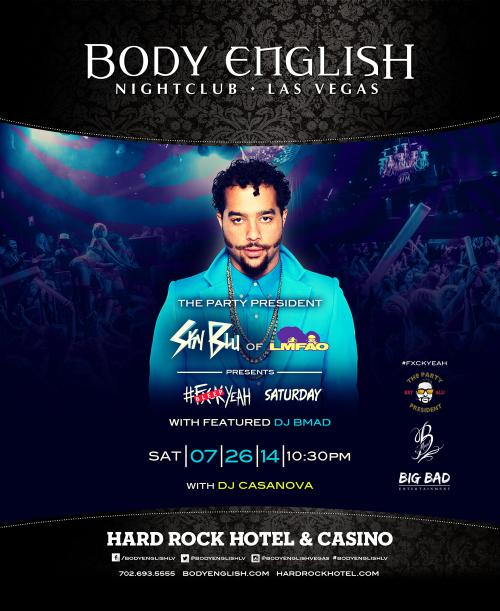 Body English Nightclub,Las Vegas, Featuring Sky Blu of LMFAO