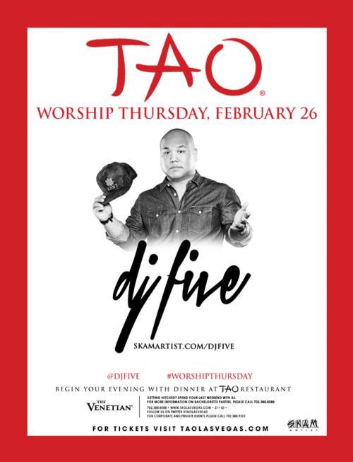 Tao  Nightclub Las Vegas, Featuring DJ FIVE