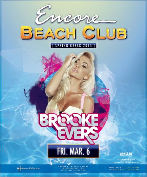Encore Beach Club Pool Party Las Vegas, Featuring BROOKE EVERS