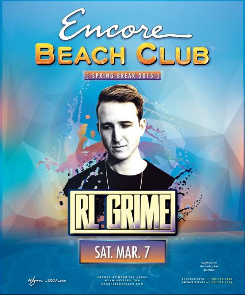 Encore Beach Club Pool Party Las Vegas, Featuring RL GRIME