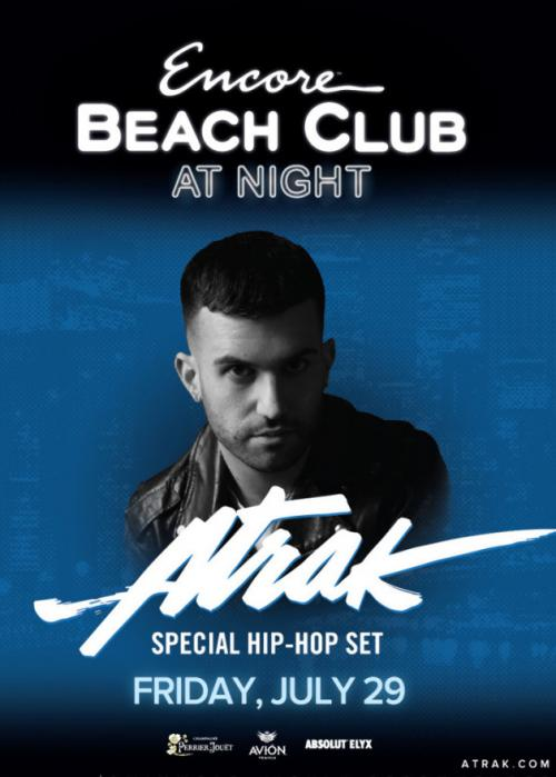 Encore Beach Club Pool AT NIGHT Las Vegas, Featuring A-TRAK