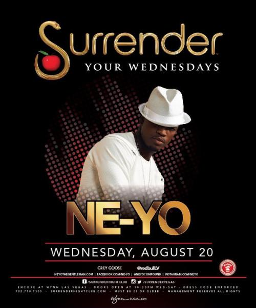 Surrender Nightclub Las Vegas Featuring Ne-yo