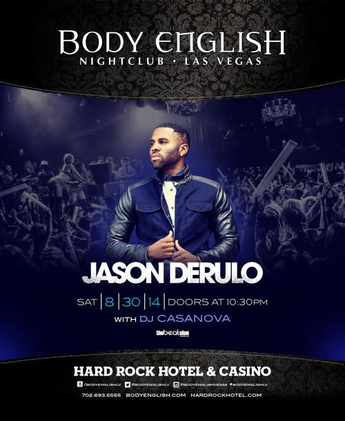 Body English Nightclub, Las Vegas, Featuring Jason Derulo