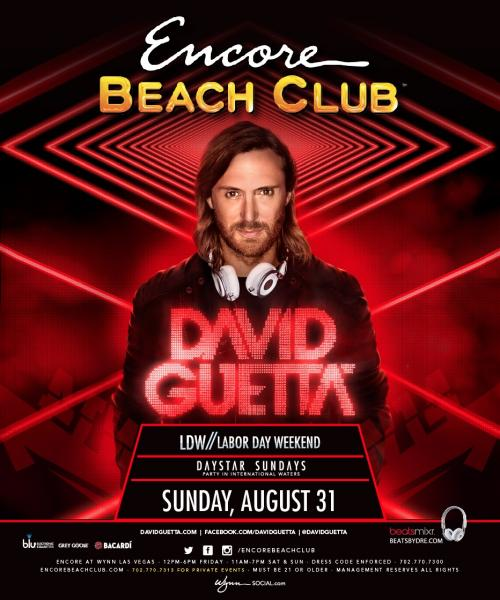 Encore Beach Club Las Vegas featuring David Guetta