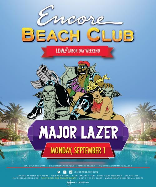 Encore Beach Club Las Vegas featuring Major Lazer