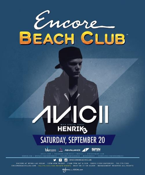 Encore Beach Club Las Vegas featuring Avicii