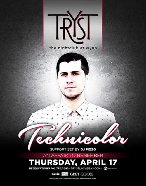 Tryst Nightclub Las Vegas, Featuring Technicolor