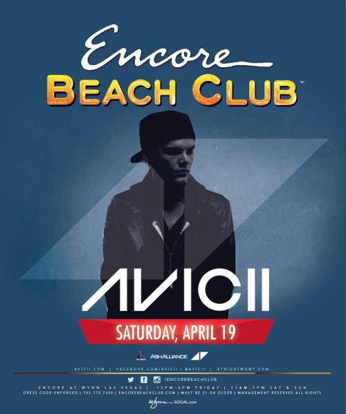 Encore Beach Club,Las Vegas, Featuring Avicii