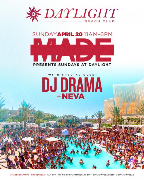 Daylight Beach Club Las Vegas, Featuring DJ Drama
