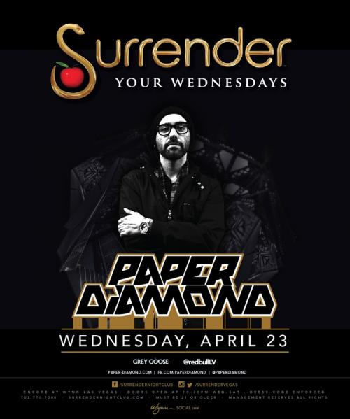 Surrender Nightclub Las Vegas, Featuring Paper Diamond