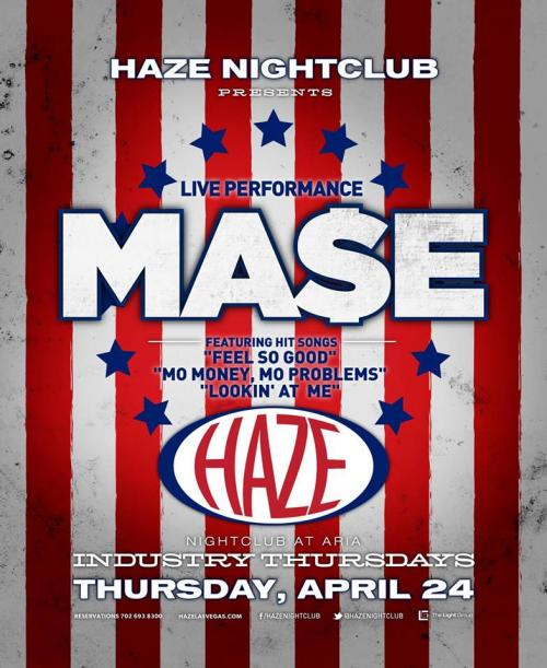 Haze Nightclub Las Vegas, Featuring MA$E