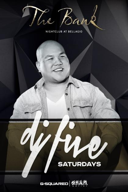 Bank Nightclub Las Vegas, Featuring SKAM ARTIST DJ FIVE SATURDAYS