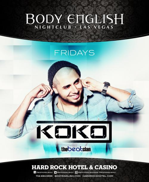 Body English Nightclub,Las Vegas, Featuring Koko