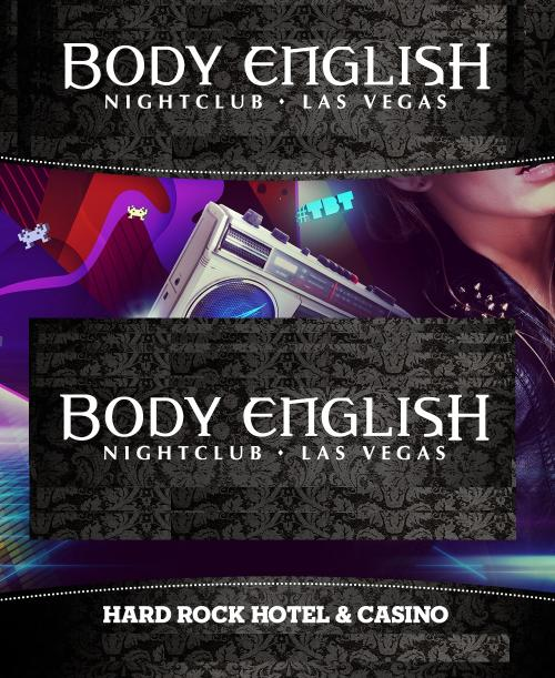Body English Nightclub Las Vegas, Featuring Body English PARTY SATURDAYS