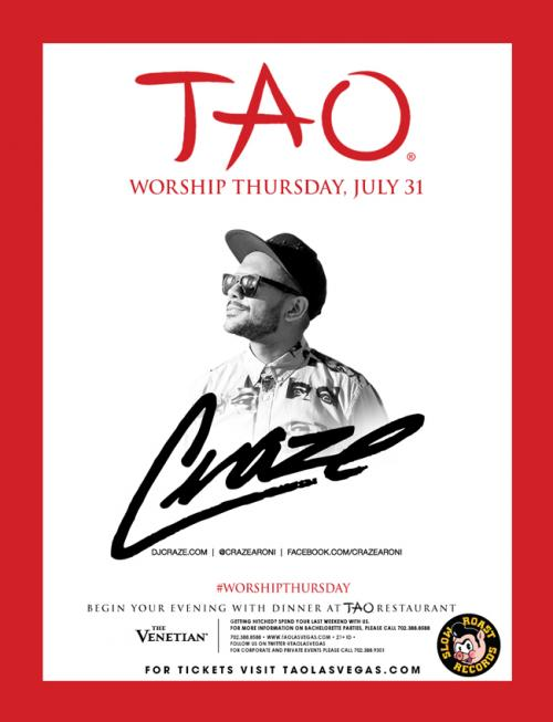 TAO Nightclub, Las Vegas, featuring DJ Craze