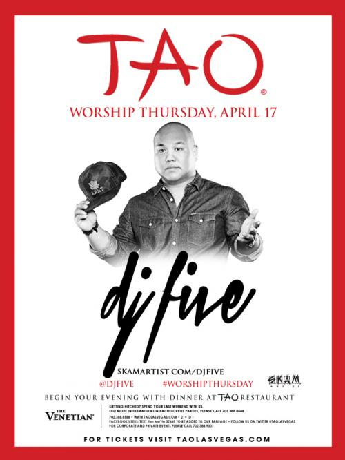 TAO Nightclub Las Vegas, Featuring DJ Five