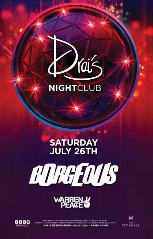 Drais Las Vegas Roof Top Nightclub Beach Club, Featuring Borgeous
