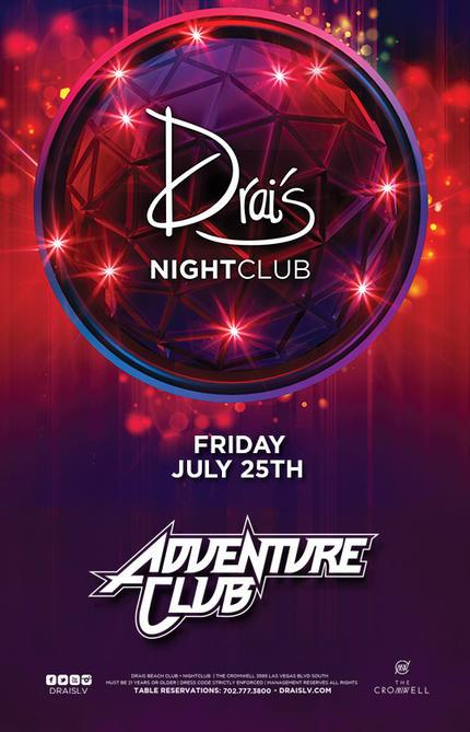 Drais Las Vegas Roof Top Nightclub Beach Club, Featuring Adventure Club