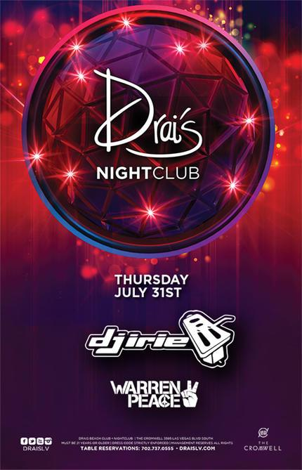 Drais Las Vegas Roof Top Nightclub Beach Club, Featuring DJ Irie