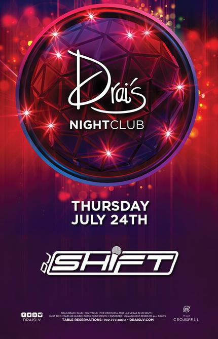 Drais Las Vegas Roof Top Nightclub Beach Club, Featuring DJ Shift