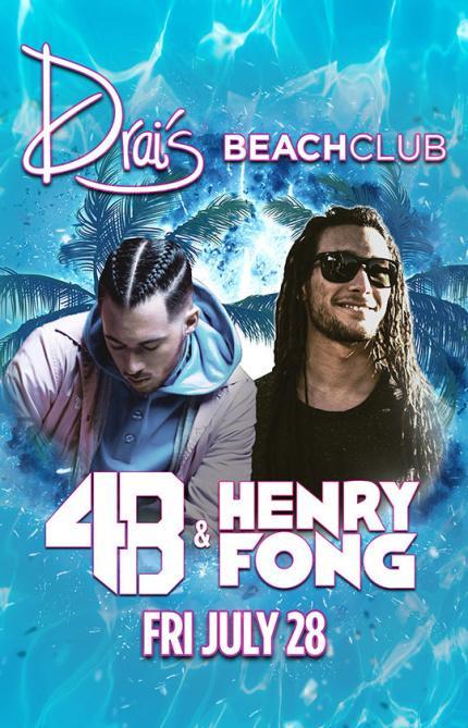 Drai's Beachclub Pool Las Vegas, Featuring 4B & Henry Fong