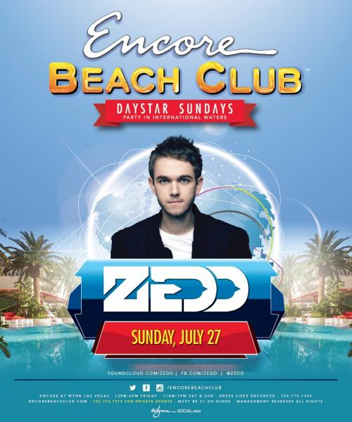 Encore Beach Club Las Vegas featuring Zedd