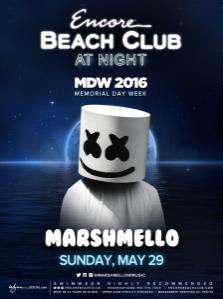 Encore Beach Club Pool Las Vegas, Featuring Marshmello