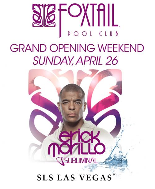 Foxtail Pool Club Las Vegas, Featuring Erick Morillo