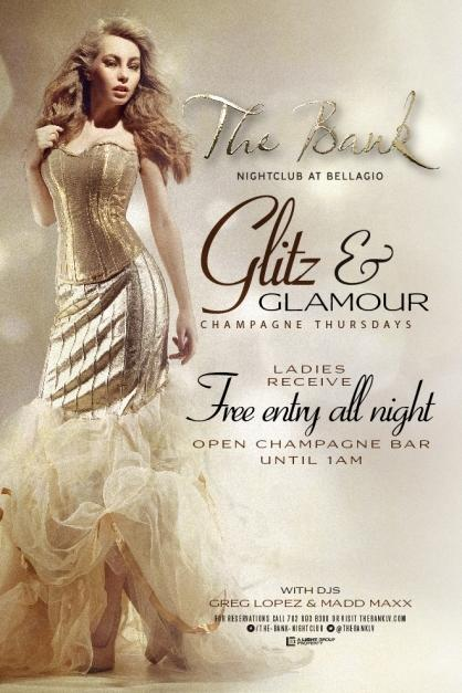 The Bank Nightclub Las Vegas, Glitz and Glamour Champagne Thursdays