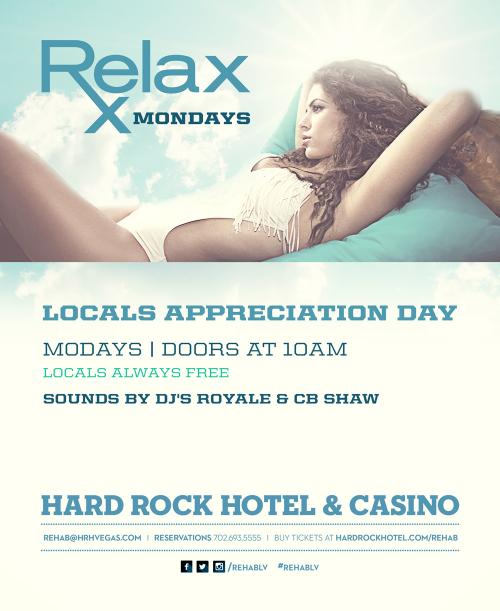 Relax Monday's Pool Party at The Hard Rock Las Vegas