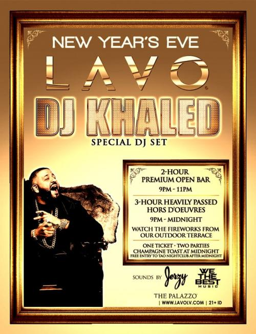 Lavo Las Vegas, NYE 2016 with DJ Khaled