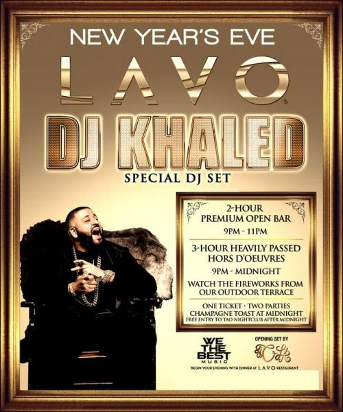 Lavo Las Vegas NYE 2015 Featuring DJ Kahled