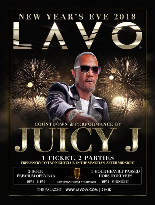 Lavo Las Vegas, NYE 2018 Featuring Juicy J