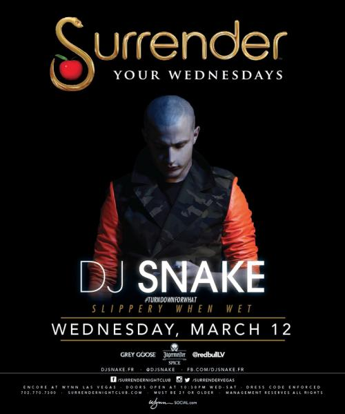 Surrender Nightclub Las Vegas, Featuring DJ Snake
