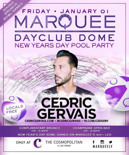 Marquee Dayclub Dome New Years Day Bikini Bowl Brunch with Cedric Gervais