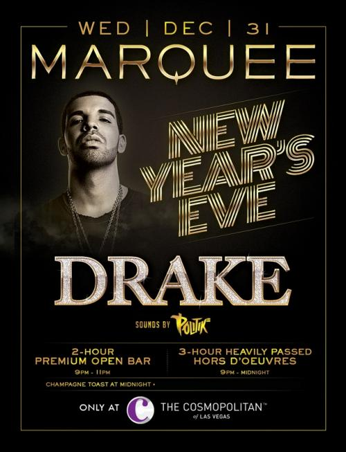 Marquee Nightclub NYE Party with Drake