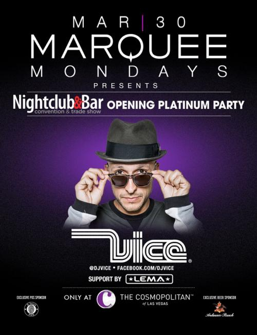 Marquee  Nightclub Las Vegas, Featuring Vice