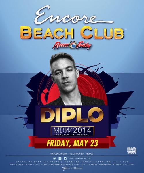 Encore Beach Club Las Vegas, Featuring Diplo
