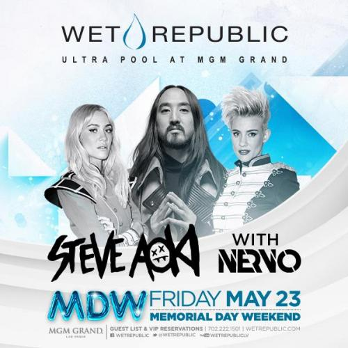 MDW @ Wet Republic Las Vegas, Featuring Steve Aoki and Nervo