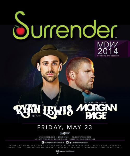 Surrender Nightclub,Las Vegas, Featuring Ryan Lewis and Morgan Page