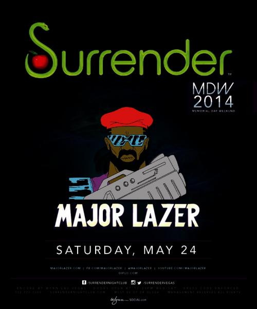 Surrender Nightclub,Las Vegas, Featuring Major Lazer