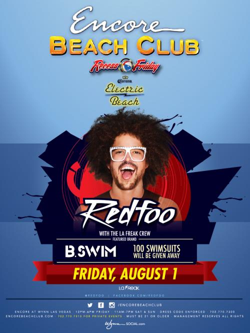 Encore Beach Club Las Vegas featuring RedFoo of LMFAO