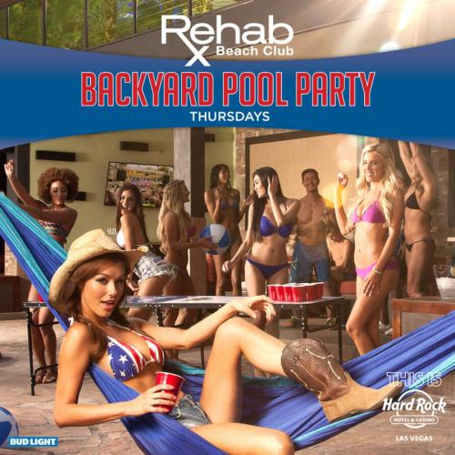 Rehab, Backyard Pool Party Thursdays