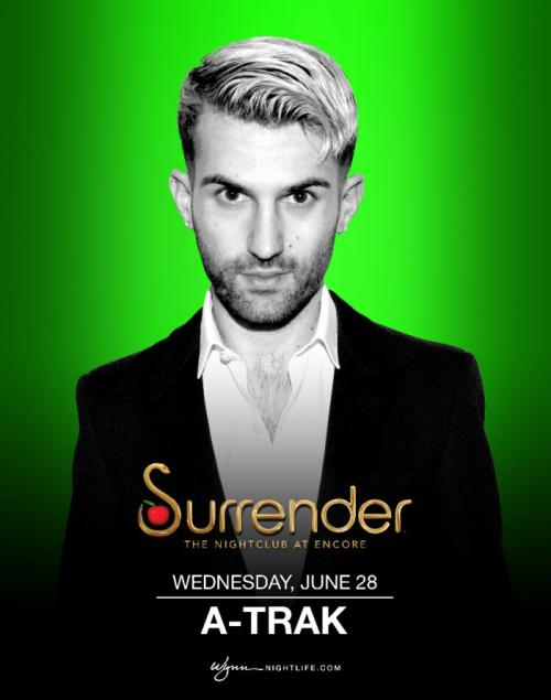 Surrender Nightclub Las Vegas, Featuring A-Trak