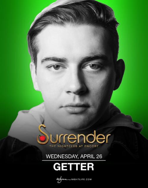 Surrender Nightclub Las Vegas, Featuring Getter