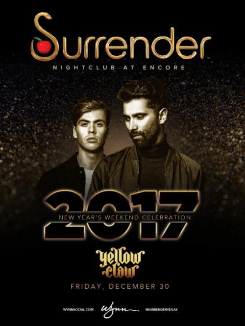 Surrender Nightclub Las Vegas, Featuring Yellow Claw