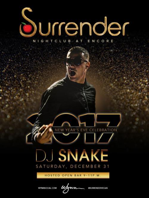 Surrender Nightclub Las Vegas, NYE Featuring DJ Snake