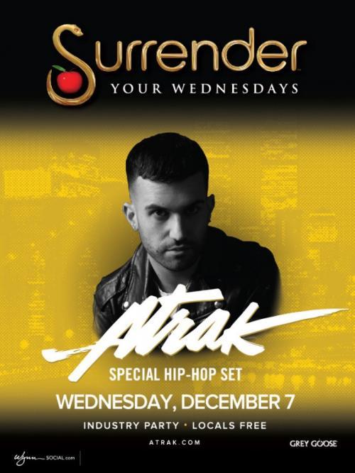 Surrender Nightclub Las Vegas, Featuring Atrak